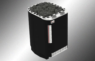 ; Multi-Tension NS mod/èle Sauna Po/êle /Électrique SAWO ARIES ROUND ARI3 6,0 kW; N/écessite lunit/é de contr/ôle s/épar/é soit monophas/é ou triphas/é; Bo/îtier en acier inoxydable; ARI3-60